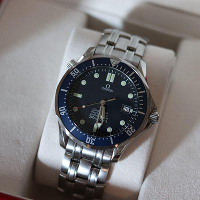 72 HOUR SALE! Minty Omega Seamaster Pro 300M SMP 2531.80 Blue Wave Dial James Bond 007 Full Size 41mm Auto - Box/Papers/Fresh Service #2864