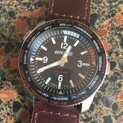 WAKMANN World Time, Manual Mvt...$175