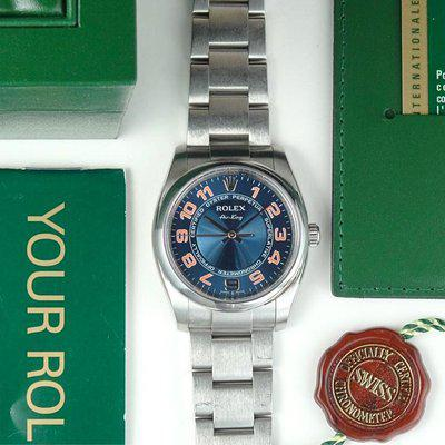 Rolex Airking | 114200 Blue Concentric Dial