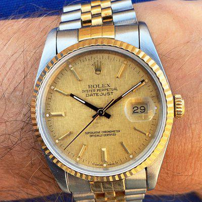 [WTS] Stunning Linen Dial Rolex Datejust Fully Serviced from 1989