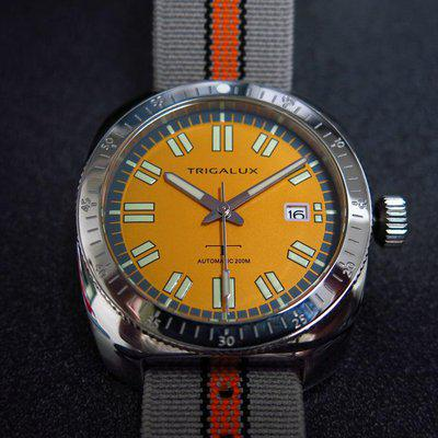 SOLD - Trigalux T-Diver Automatic NH35 movement, Sapphire crystal.