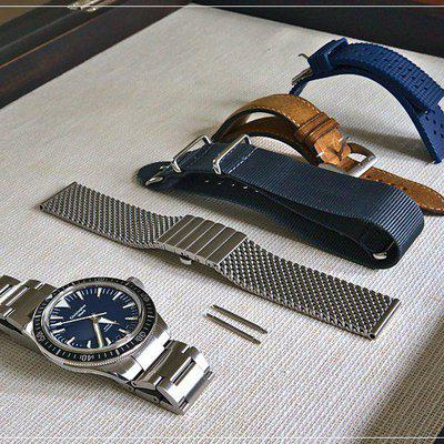 Christopher Ward C65 Dartmouth plus additional straps and Staib mesh bracelet