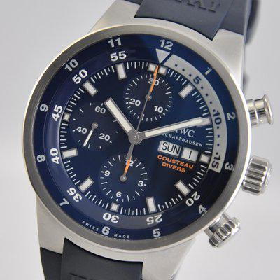 FS: IWC Aquatimer Chronograph Cousteau Divers Blue LIMITED Tribute to Calypso IW378201 Rubber