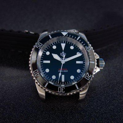 SOLD - BSH Military Submariner project Mariana with Seiko NH35 Auto movement, 40mm case, raised Sapphire crystal