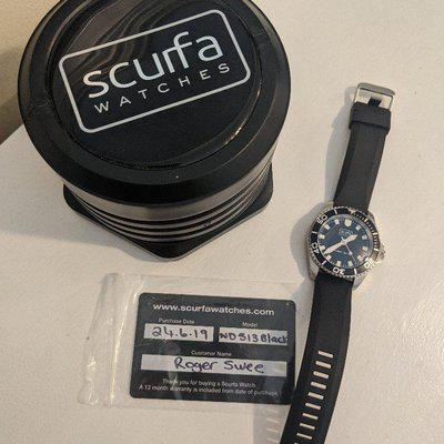 Scurfa diver one black ND513 $200