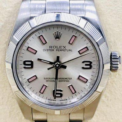 FS: Mint Rolex 176210 Oyster Perpetual 26mm White Dial Pink Markers Full Set