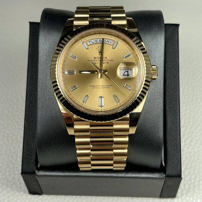 FS: Rolex 228238 Day Date 40mm Factory Diamond Baguette Dial BOX AND CARD 2020