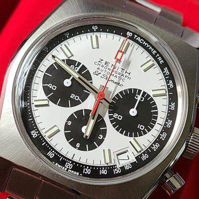 FSOT: Zenith El Primero 50th Anniversary A384 Revival Chronograph (03.A384.400) Watch - Complete Set, Great Watch - $6,275