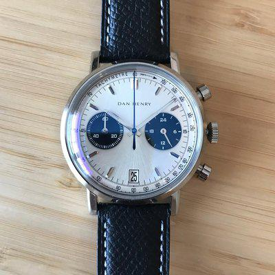 [WTS] Dan Henry 1964: Silver Panda Bicompax Chronograph with Date