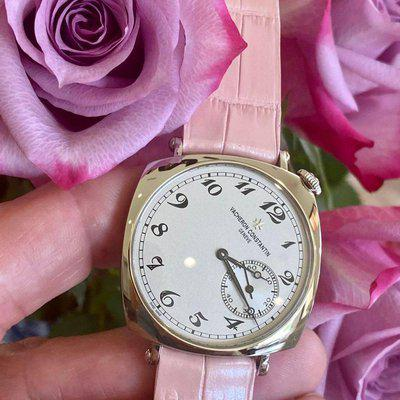 FS : Pink Alligator Without Stitching For Vacheron Constantin Historiques Americain 1921