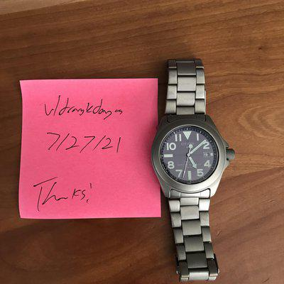"""[WTS] JDM Citizen 'Ray Mears,' full titanium case and bracelet, monocoque case, """"set it and forget it"""" movement, EXC COND."""