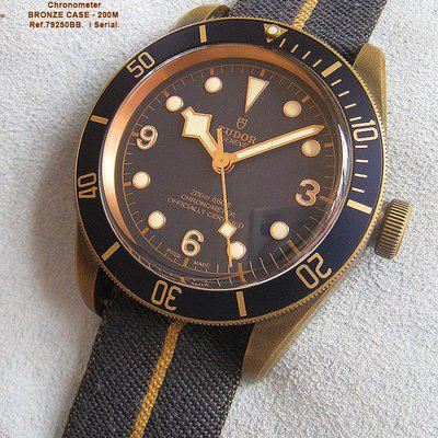 FS-TUDOR Black Bay Bronze Bucherer Special Edition Blue dial  ref.79250BB i serial. Double TUDOR Boxset, small diver tudor menu booklet and card dated  2017 (no tag) $3995+S