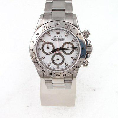 FS:Rolex Stainless Steel Daytona With White Index Dial And Oyster Band Model#116520