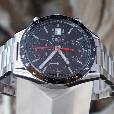 FS: TAG Heuer Carrera Calibre 16 Chronograph CV201AK.BA0727 New Box & Book