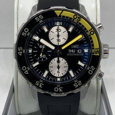 FS - IWC Aquatimer IW376702 Stainless Steel Chronograph 45mm Men's Diver Watch Rubber and Alligator Strap