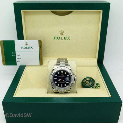 FS: Rolex 116622 40MM SS/PLATINUM YACHTMASTER-BLUE DIAL