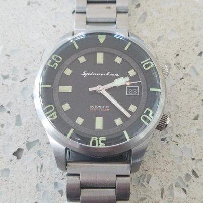 "FS: Spinnaker Bradner ""Olive"" with OEM strap, box, and papers, compressor-style automatic diver >> $225"