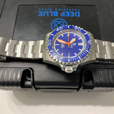 —-Sold—-Deep Blue Master 2000 Swiss Made Mens Dive Watch. 10 YR LIMITED EDITION
