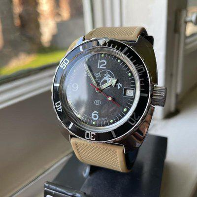 """[WTS] Modded Vostok Amphibia """"Scuba Dude"""" 200M Automatic Dive Watch, with Modded Bezel, and 2 Straps, Just $89 shipped!"""