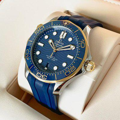WTS: Omega Seamaster Blue and Yellow Gold on Rubber 210.22.42.20.03.001