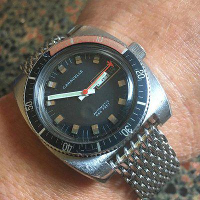 Bulova Caravelle Diver 666 Automatic, 37mm, Day/Date. Mvt. Cleaned.. $335 Shipped