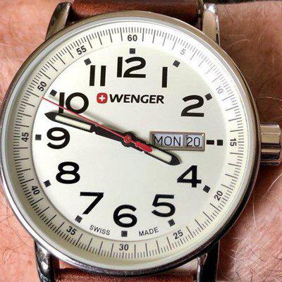SOLD: Wenger Field Watch White Dial OEM Bracelet + Silicone Strap Asking $45