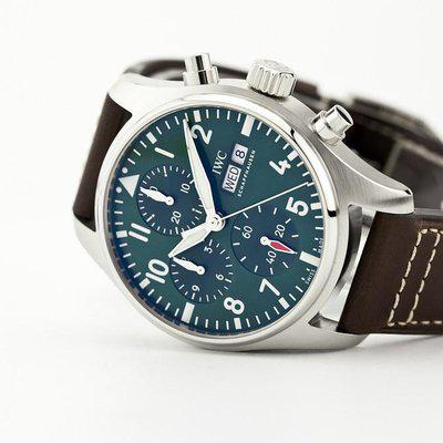 fsot - IWC Pilot Chronograph - 41 - Green - In-House Movement IW388103 ( new / 2021 )
