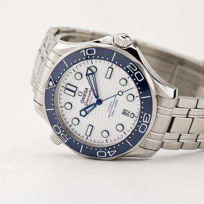 fsot - Omega Seamaster 300 - Tokyo 2020 Special Edition White & Blue ( new / 2021 )