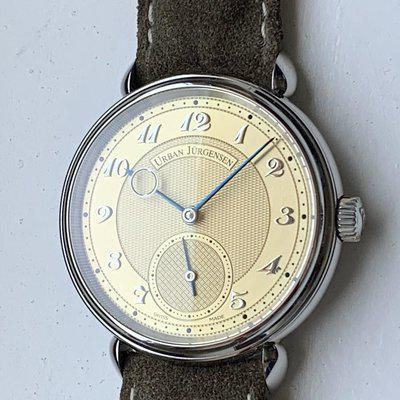 FSOT: Urban Jurgensen LE 1140 Stainless Steel   Champagne Dial   Mint Condition   Very Rare