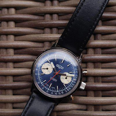 [WTS] Vulcain 2 register chronograph with blue dial