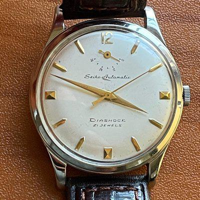 FS: First-gen 1950s Seiko Automatic with power reserve indicator, J14009, $950 OBO