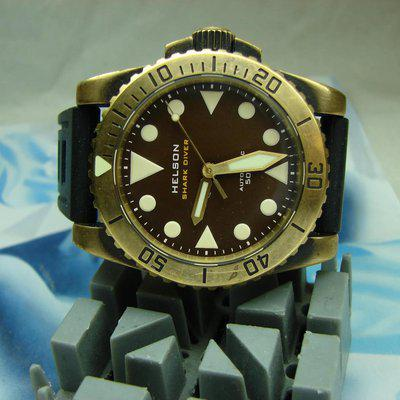 FOR SALE Helson SHARK DIVER BRASS 42mm heavy patina $270