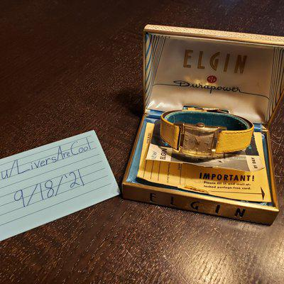 [WTS] SERVICED 1940s Elgin watch with Original Box and Papers! - $125