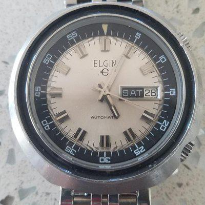 TRADED: Vintage 70s Elgin Compressor-style Diver, 44mm Dual Crowns >> $550