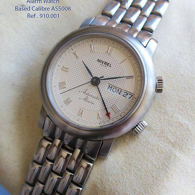 FS-NIVREL Heritage Reveil Made in germany Automatic Alarm watch in 38mm stainess steel Reference number	910.001 Silver  dial  Box papers US$1495+S ONLY