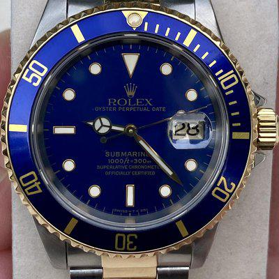 FSOT: Rolex Submariner 16613 Bluesy with Box and Punched Papers