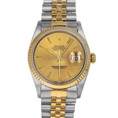 FS- Rolex 16233 Datejust S Champagne Dial RSC Box Service Papers