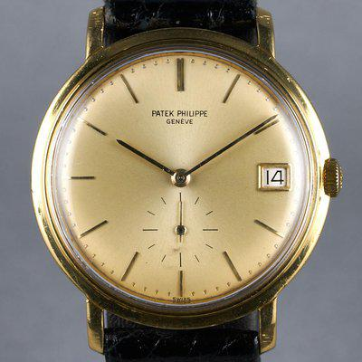 FS: 1970s Patek Philippe YG Automatic Calatrava Ref: 3445 with Champagne Dial