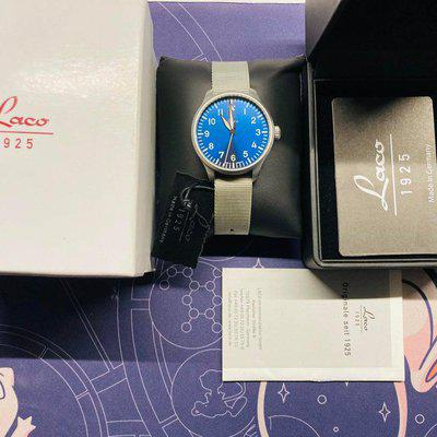 [WTS] Laco 862102 Augsburg Blaue Stone 39mm Automatik. Comes with box and papers