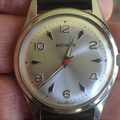 FS - 1960s Benrus Dress Watch w/ Red Second Hand and Arrowhead Markers plus FREE second watch