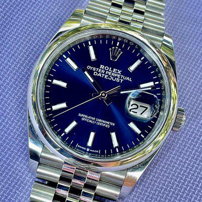FS - Rolex Datejust 36 Blue Dial, Jubilee Bracelet, Box and Papers, 2020 - Ref 126200