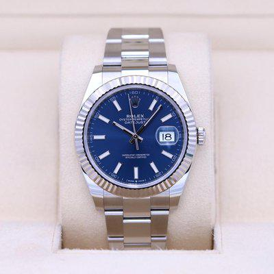 FSOT: Rolex DateJust 41 126334 Blue Dial – 2020 Box & Papers