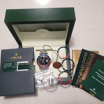 FS: Rolex 16710 BLRO Pepsi GMT-Master II, 3186, Rectangular dial!