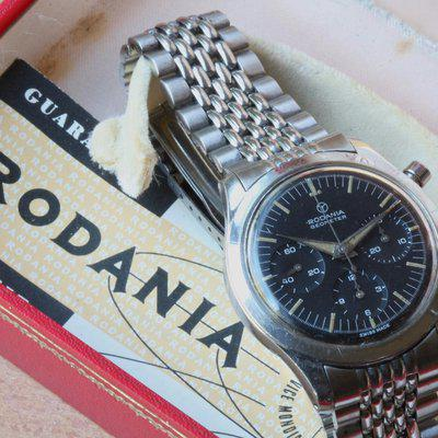 Rodania Geometer rare Val 72 chrono from 1950s few around