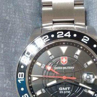 FS: SWISS-MILITARY Navy GMT on Bracelet