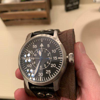 FS NM Steinhart 44mm B-Dial Pilot used twice! Box papers everything! $ 400