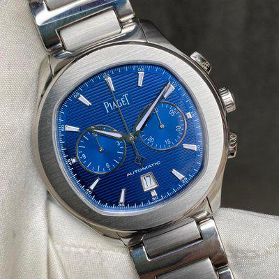 FS:Piaget POLO S Blue Guilloche Dial Chronograph Date G0A41006  Quantity 1