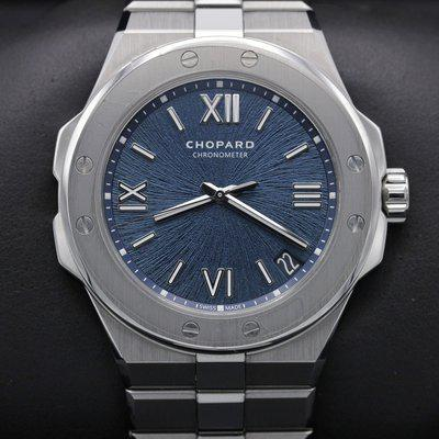 FSOT: Chopard - Alpine Eagle Large 298600-3001 - Blue Dial - Stainless - 41mm - Mint