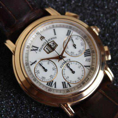 Maurice Lacroix Masterpiece Flyback Annual Calendar 18k Gold