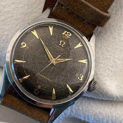 """FS - Price just reduced.Omega Seamaster 2635-8 with lovely """"tobacco"""" patinated dial"""